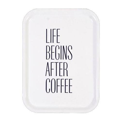 Tarjotin Life Begins After Coffee White