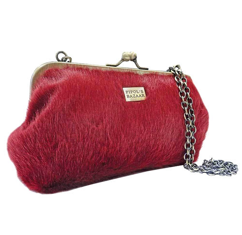 Laukku Furry Clutch Wine