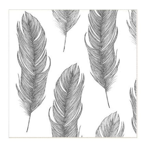 Servietti Elegant Feather Black